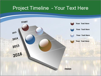 Dambovita river and moon PowerPoint Template - Slide 26