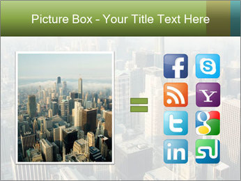 Clouds rolling over Chicago city PowerPoint Template - Slide 21