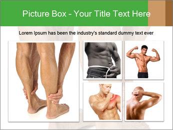 Lean athletic man PowerPoint Template - Slide 19