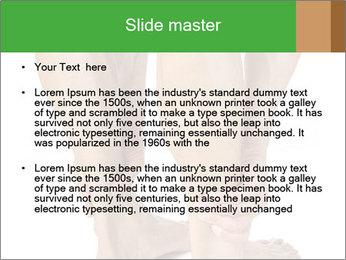 Lean athletic man PowerPoint Template - Slide 2