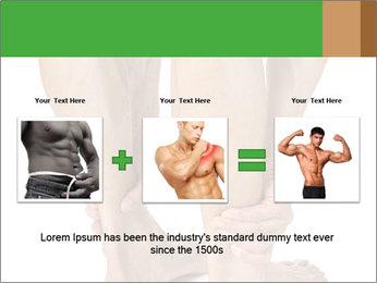 Lean athletic man PowerPoint Template - Slide 22