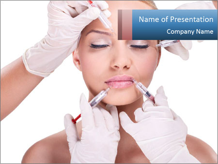 Injection of botox PowerPoint Template