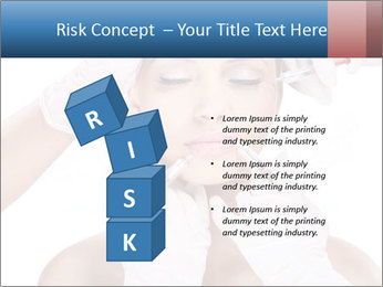 Injection of botox PowerPoint Template - Slide 81