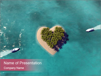 Paradise Island PowerPoint Template - Slide 1