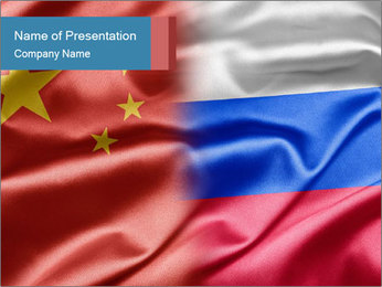 China and Russia PowerPoint Template - Slide 1