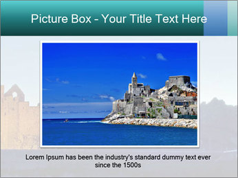 Peel Castle floodlit PowerPoint Template - Slide 15