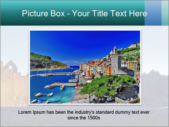 Peel Castle floodlit PowerPoint Template - Slide 16
