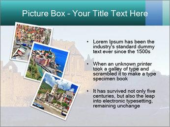 Peel Castle floodlit PowerPoint Template - Slide 17