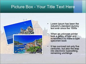 Peel Castle floodlit PowerPoint Template - Slide 20
