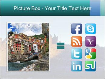 Peel Castle floodlit PowerPoint Template - Slide 21