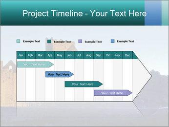 Peel Castle floodlit PowerPoint Template - Slide 25