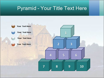 Peel Castle floodlit PowerPoint Template - Slide 31