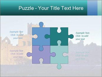 Peel Castle floodlit PowerPoint Template - Slide 43