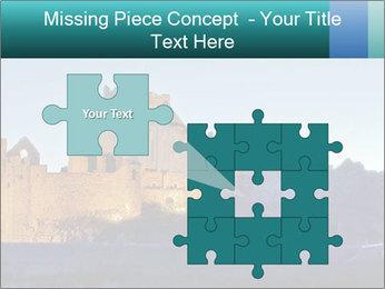 Peel Castle floodlit PowerPoint Template - Slide 45