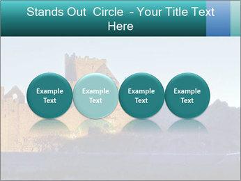 Peel Castle floodlit PowerPoint Template - Slide 76