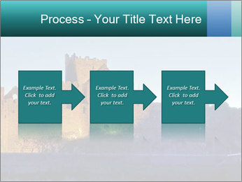 Peel Castle floodlit PowerPoint Template - Slide 88