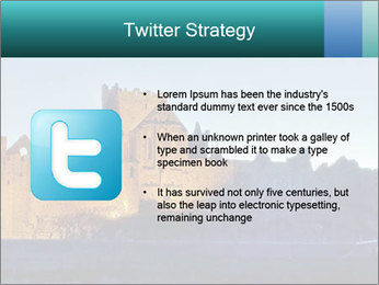 Peel Castle floodlit PowerPoint Template - Slide 9