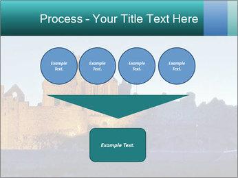 Peel Castle floodlit PowerPoint Template - Slide 93