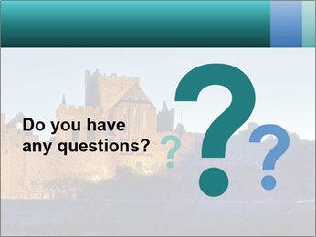 Peel Castle floodlit PowerPoint Template - Slide 96