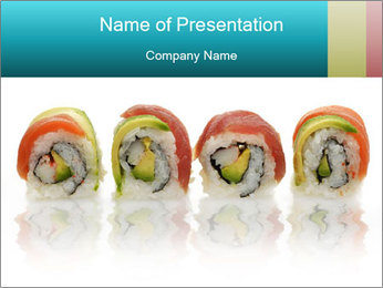 Sushi Rolls PowerPoint Template - Slide 1
