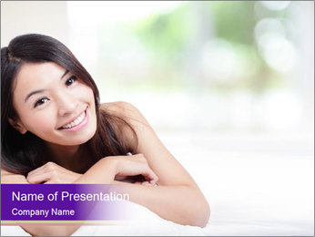 Charming woman PowerPoint Template - Slide 1