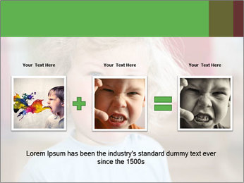 Child is crying PowerPoint Template - Slide 22