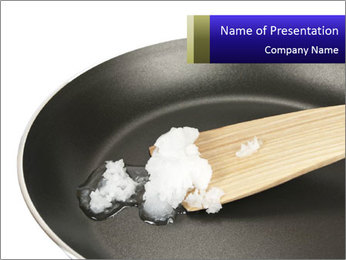 Coconut oil PowerPoint Template - Slide 1