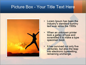 Business woman jumping PowerPoint Template - Slide 13