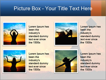 Business woman jumping PowerPoint Template - Slide 14