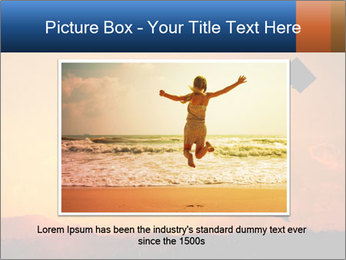 Business woman jumping PowerPoint Template - Slide 15