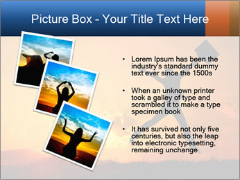 Business woman jumping PowerPoint Template - Slide 17
