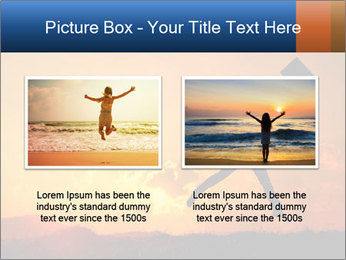 Business woman jumping PowerPoint Template - Slide 18