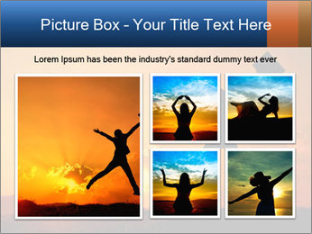 Business woman jumping PowerPoint Template - Slide 19