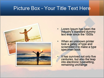 Business woman jumping PowerPoint Template - Slide 20
