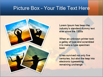 Business woman jumping PowerPoint Template - Slide 23