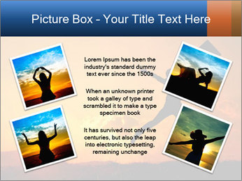 Business woman jumping PowerPoint Template - Slide 24