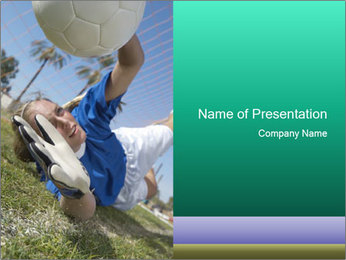 Young female soccer PowerPoint Template