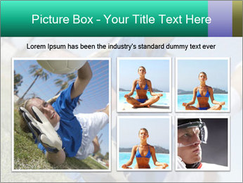 Young female soccer PowerPoint Template - Slide 19
