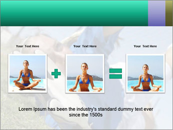 Young female soccer PowerPoint Template - Slide 22