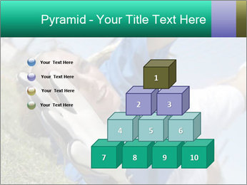 Young female soccer PowerPoint Template - Slide 31