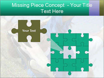 Young female soccer PowerPoint Template - Slide 45