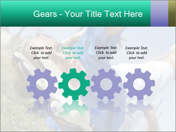 Young female soccer PowerPoint Template - Slide 48