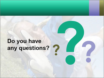 Young female soccer PowerPoint Template - Slide 96