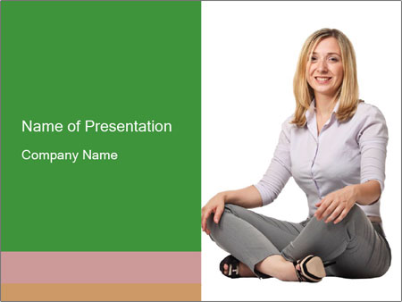 Sit woman PowerPoint Template