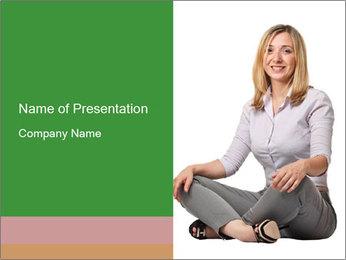 Sit woman PowerPoint Template - Slide 1