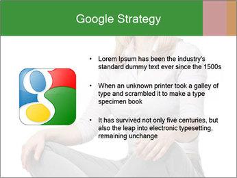 Sit woman PowerPoint Template - Slide 10