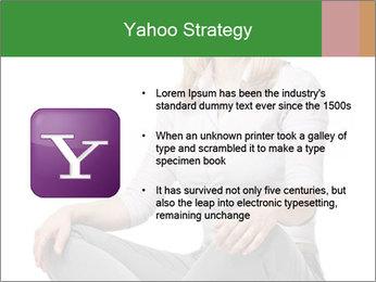 Sit woman PowerPoint Template - Slide 11