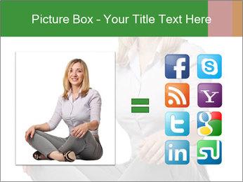 Sit woman PowerPoint Template - Slide 21