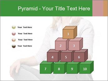 Sit woman PowerPoint Template - Slide 31