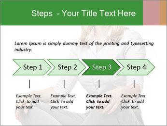 Sit woman PowerPoint Template - Slide 4
